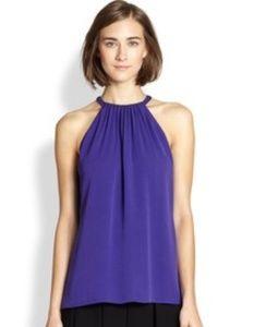 Diane von Furstenberg Women's 'Pania' Silk Top L
